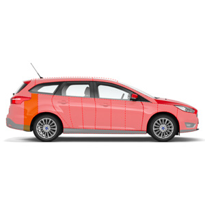smart repair parafango posteriore parte centrale inferiore station wagon berlina carrozzeria. Black Bedroom Furniture Sets. Home Design Ideas